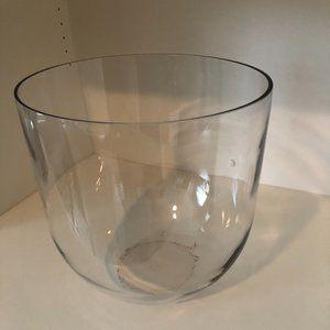 Round Glass Vase Approximately 11 inch diameter